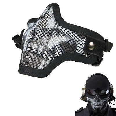 New Elegant Metal Mesh Protective Mask Half Face Tactical Airsoft Military Mask