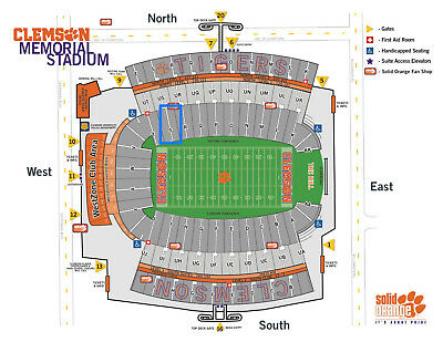 2 Lower Deck Tickets | Clemson Tigers vs. Syracuse Orange Football | Section S