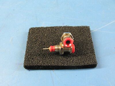 2pcs Red Insulated Panel Mount Test Lead Pin Jacks Test Points w/Hardware