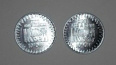 2 Different Mtn Mountain Dew Rare Token Coin 1980s