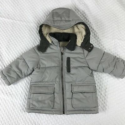 c65409ff Zara Baby Boy Outerwear Collection Puffer Jacket Whit Hood Sz 6-9m NWT