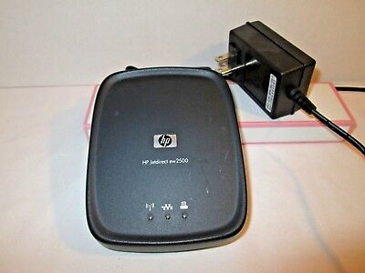 HP JetDirect EW2500 Wireless G USB Print Server J8021A w/ A/C Adapter