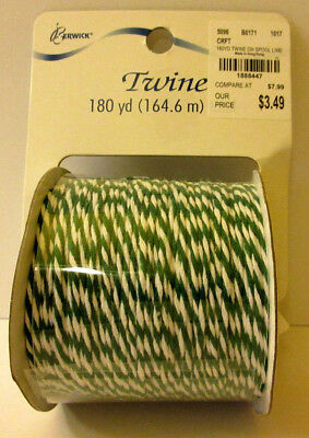 Berwick Bakers Type Twine 180 yd Black White Green White Crafts Wedding Wrapping