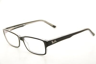 New Authentic Ray Ban RB 5169 2034 Black/Clear 52mm Frames Eyeglasses RX