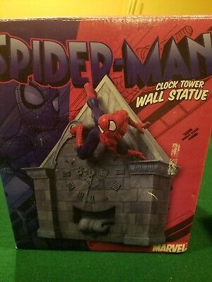 NEW Marvel/Diamond Select SPIDER-MAN CLOCK TOWER WALL STATUE w/COA #24/5000