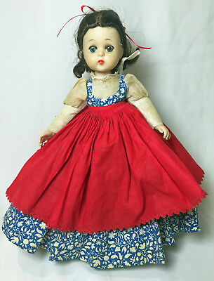 "Vintage 12"" Madame Alexander Little Women Lissy Jo Doll tagged (1950s...)"