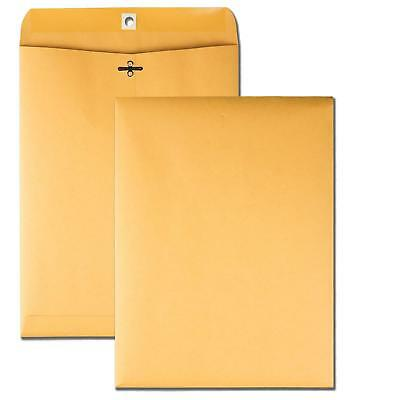 Quality Park 9 x 12 Clasp Envelopes with Deeply Gummed Flaps, Great for Filing,