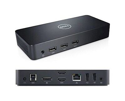 Dell D3100 Ultra HD 4K USB 3.0 Docking Station w/ DP, HDMI, PSU  - 12 Mth Wty