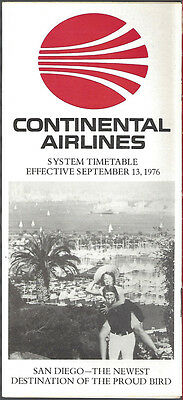 Continental Airlines system timetable 9/13/76 [7084]