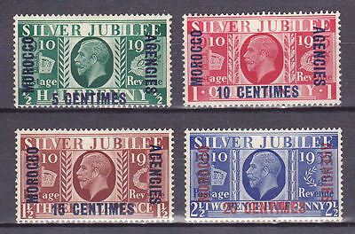 Great Britain-Morocco Agencies sc# 422-425; SG# 62-65 MH,1935 Silver Jubilee