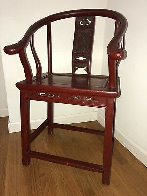 Qing Dynasty 19th Century Horseshoe Chair