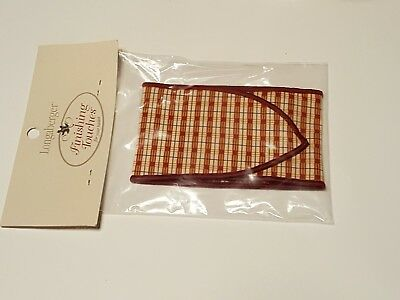 Longaberger Homestead Woven Memories Basket BASKET TIE 2008 Only Mint in Package