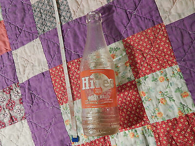 """Hires Root Beer (8 Oz. GLASS SODA BOTTLE) Clean Graphics) """"Roots-Barks-Herbs"""""""