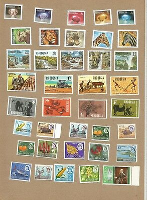 Rhodesia: 3 Full sets + many other all Mint - mostly NH** (54 stamps)  (Ref 171)