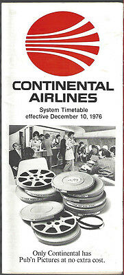 Continental Airlines system timetable 12/10/76 [7084]
