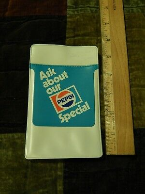 """Pepsi Cola Co. ~ Vinyl (Pocket Protector) ~ """"Ask About Our PEPSI Special"""" Ltd"""