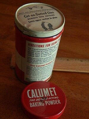 Calumet Baking Powder [1/2 LB.] General Foods Corp. Chicago, ILL. USA *NOS* Vtg