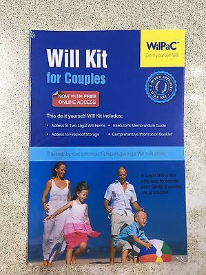Wilpac Will Legal Kit for Couples, RRP$29.99