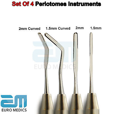 4Pcs Dental Gold Coated Wrings Periotomes Hollow Handle Surgical Instrument CE