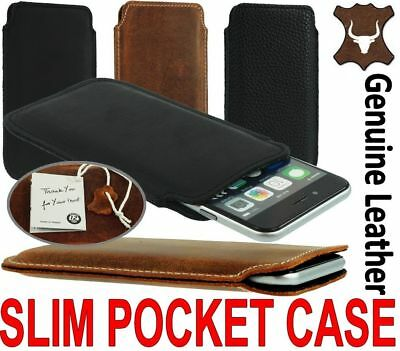 Slim 3C Case Made Of Genuine Leather Pocket Cover Sleeve Pouch For Apple Iphone