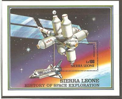 1989   Sierre Leone - Sg Ms 1302  (1 Of 3) - History Of Space  - Umm