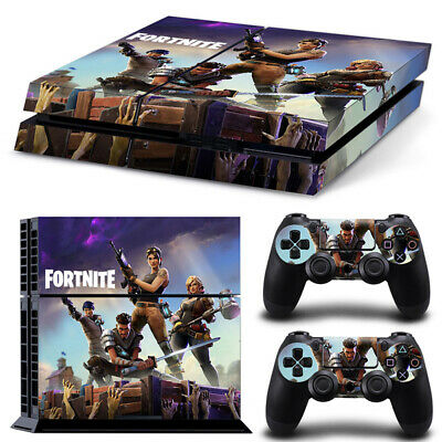 Fortnite PS4 Playstation 4pcs Skin Sticker Decal Console+Controllers Vinyl-6936