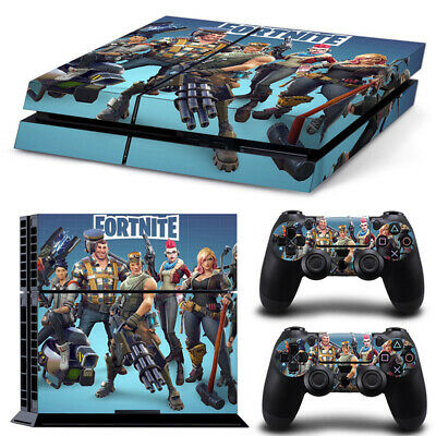 Fortnite PS4 Playstation 4pcs Skin Sticker Decal Console+Controllers Vinyl-6946