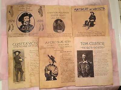 Old West Posters Army Calvary Custer Bighorn Sitting Crazy Horse Bull