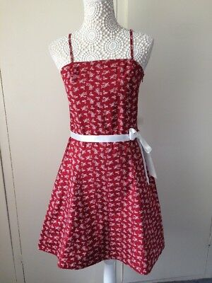 Beautiful Ladies Red Strappy Yessica Dress With Ribbon Belt Size 12