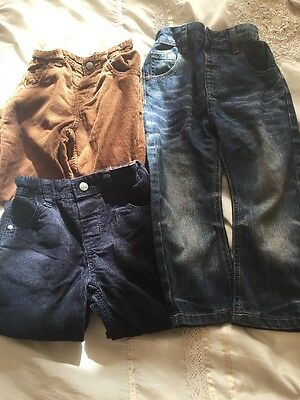 Boys Next Cords And Jeans Bundle Size 2-3yrs