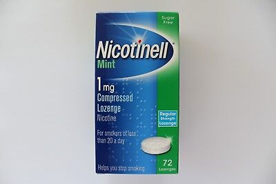 Nicotinell Mint 1mg Compressed Regular Strength Lozenge - 72 Lozenges