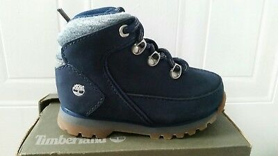 Timberland Calderbrook Infant Hiking Boots Size UK 7 Navy 100% authentic New