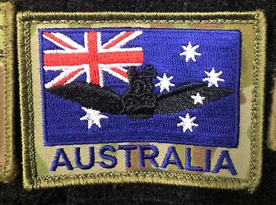 Australian Army Aviation Pilot Wings, Flag, ANF, ADF, AMCU Military Morale Patch