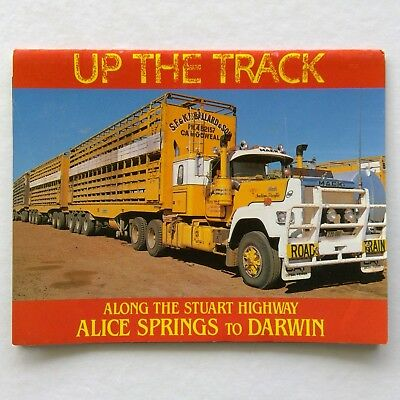 Up The Track Stuart Highway Alice Springs To Darwin View Folder Postcard (P333)