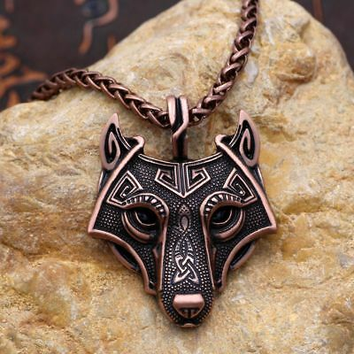 Norse Vikings Pendant Necklace Wolf Head Necklace Original Animal Jewelry Head