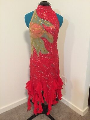 Pre-owned competition rhythm dress. Sz 10-12. Excellent condition. Worn once