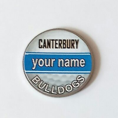 anneys - your OWN PERSONALISED  ** Bulldogs ** golf ball marker!!