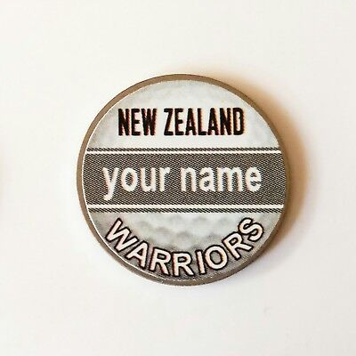 anneys - your OWN PERSONALISED  ** Warriors ** golf ball marker!!