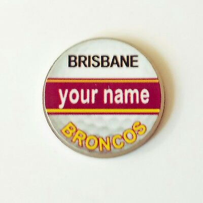 anneys - your OWN PERSONALISED  ** Broncos ** golf ball marker!!