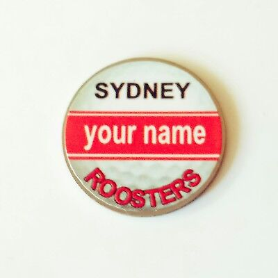 anneys - your OWN PERSONALISED  ** Roosters ** golf ball marker!!