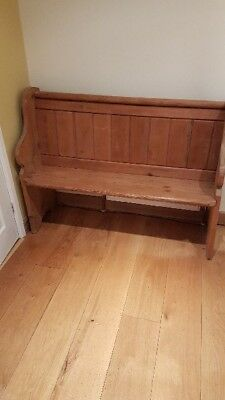 small lovely old pitch pine pew