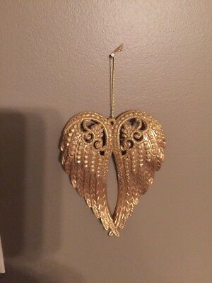 Gold Angel Wing Hanging Ornament