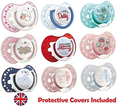 2x Dummy Soother Pacifier ❤ Orthodontic Dynamic BPA FREE Baby LOVI Colourful NEW
