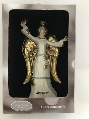 St. Nicholas Believe Angel Christmas Ornament