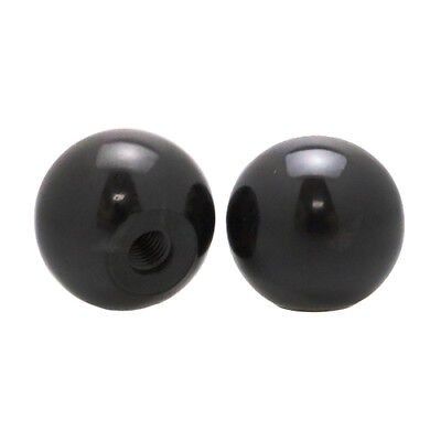 Pack of 4 Moulded Threaded Ball Knobs M12 x 44mm, Gloss Black, Duroplast, Handle