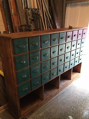 French Bank Of Shop Drawers