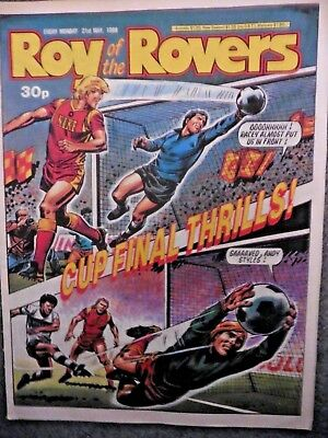Roy Of The Rovers Comic 21/5/1988 Vintage Rare Vgc