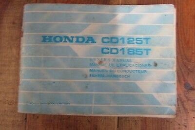 HONDA CG125 OWNERS Manual Early Cg125 Mint Condition 70 ... on