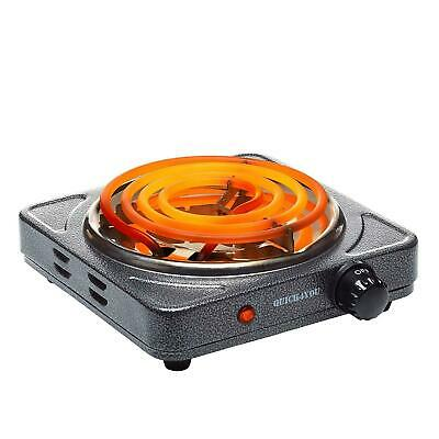 Electric Coil Hot Plate Portable Kitchen Table Top Cooker Hotplate 1500W GREY