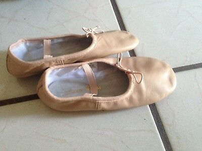 Ballet Dance Leather Shoes Full Sole 3.5